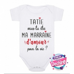 Body bébé : demande Marraine