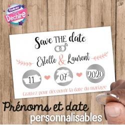 "Carte à gratter "" Save the date"""