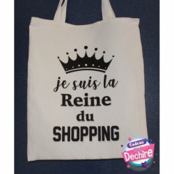 "Sac tote bag "" Reine du shopping """