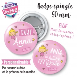 Badge EVJF princesse personnalisable