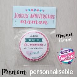 """Magnet """"La plus chouette des mamans"""""""