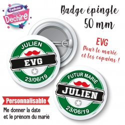 Badge EVG heineken personnalisable