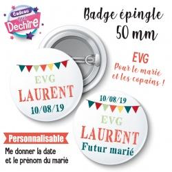 Badge EVG champêtre personnalisable