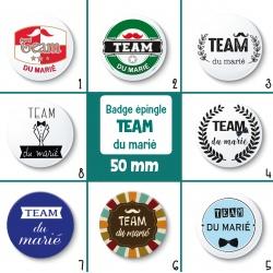 Badge TEAM du marié - 50 mm - Choix de l'image