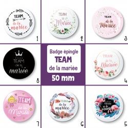 Badge TEAM de la mariée - 50 mm - Choix de l'image