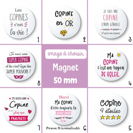 Magnet copine - 50 mm - Choix de l'image