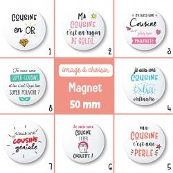Magnet cousine - 50 mm - Choix de l'image