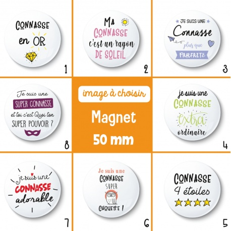 Magnet connasse - 50 mm - Choix de l'image