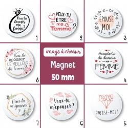 Magnet demande en mariage - 50 mm - Choix de l'image