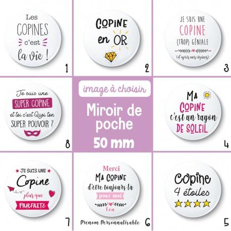 Miroir de poche copine - 50 mm - Choix de l'image