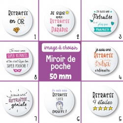 Miroir de poche retraitée - 50 mm - Choix de l'image