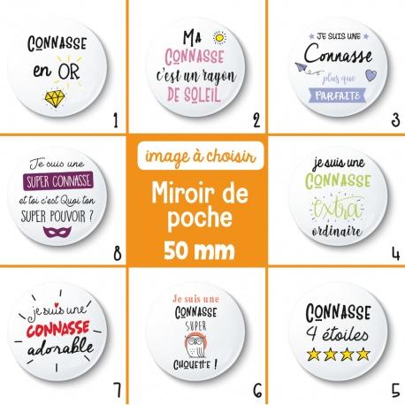 Miroir de poche connasse - 50 mm - Choix de l'image
