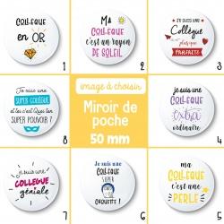 Miroir de poche une collègue - 50 mm - Choix de l'image