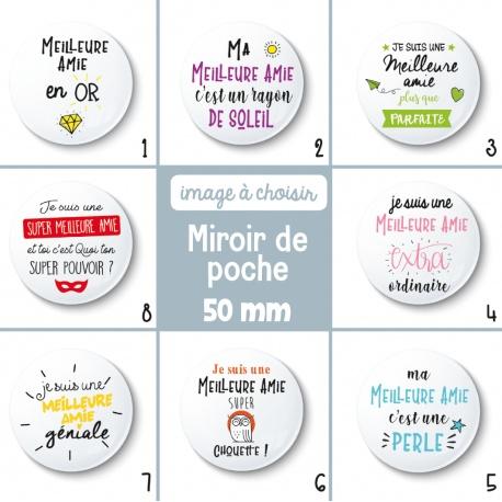 Miroir de poche meilleure amie - 50 mm - Choix de l'image
