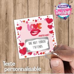 "Ticket carte à gratter "" Love """
