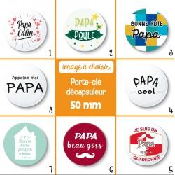 Porte-clé décapsuleur papa - 50 mm - Choix de l'image