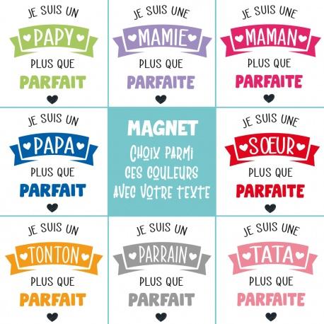 """Magnet """" Famille plus que parfaite """""""