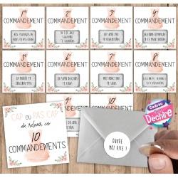 """10 commandements à gratter """"Veux-tu être ma témoin ?"""""""