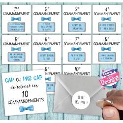 """10 commandements à gratter """"Veux-tu être mon témoin ?"""""""