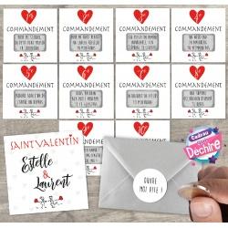 10 commandements à gratter Saint Valentin