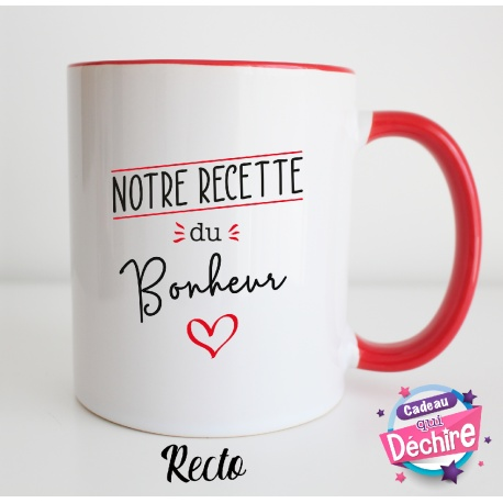 "Mug "" Notre recette du bonheur """