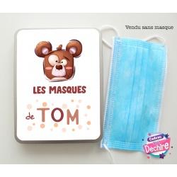 Boîte range masque enfant personnalisée