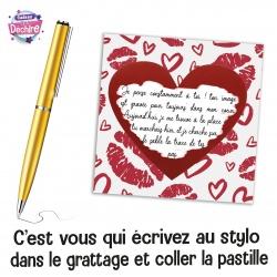 """Ticket carte à gratter """" déclaration d'amour """""""