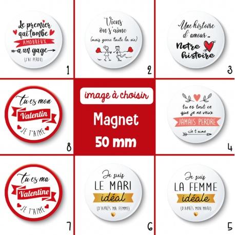 Magnet Saint Valentin - 50 mm - Choix de l'image
