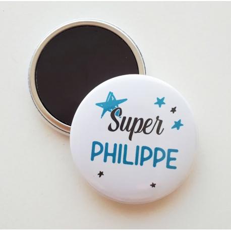 """Magnet """" Super prénom """" - Choix couleur"""