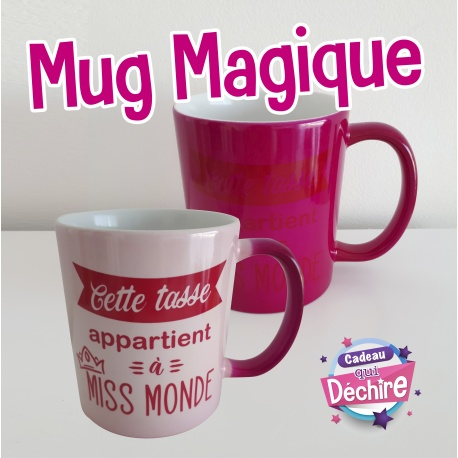 """Mug magique rose """" Miss Monde """""""