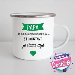 Tasse émaillée pour le futur papa