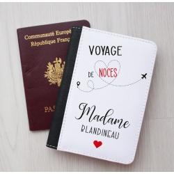 """Protège passeport """" Voyage de Noces de Madame... """""""