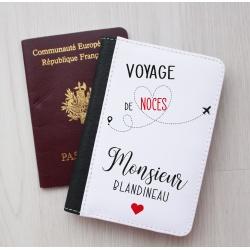 """Protège passeport """" Voyage de Noces de Monsieur... """""""