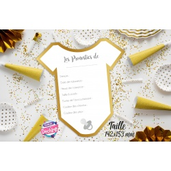 Carte pronostic baby shower