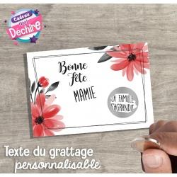 Ticket carte à gratter : Bonne Fête Mamie