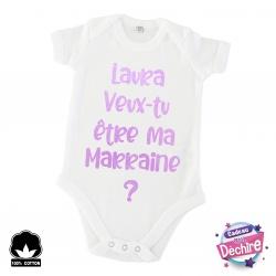Body bébé demande Marraine