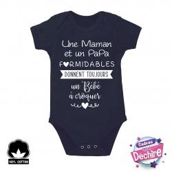 """Body bébé """" Maman et Papa formidables """""""