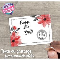 Ticket carte à gratter : Bonne Fête Maman