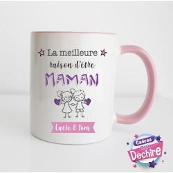 """Mug """" La meilleure raison d'être Maman """""""