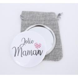 """Miroir de poche """" Jolie Maman """""""