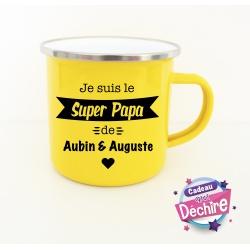 """Tasse émaillée """" Papy Poule"""""""