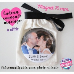 Cadeau de mariage - Magnet 50 ou 75 mm