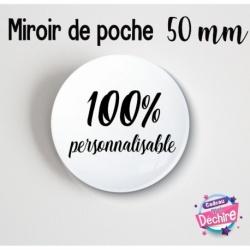 Miroir de poche 100% personnalisable