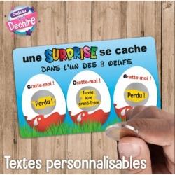 Ticket carte à gratter : annonce bébé, demande témoin, mariage, marraine, parrain, etc...